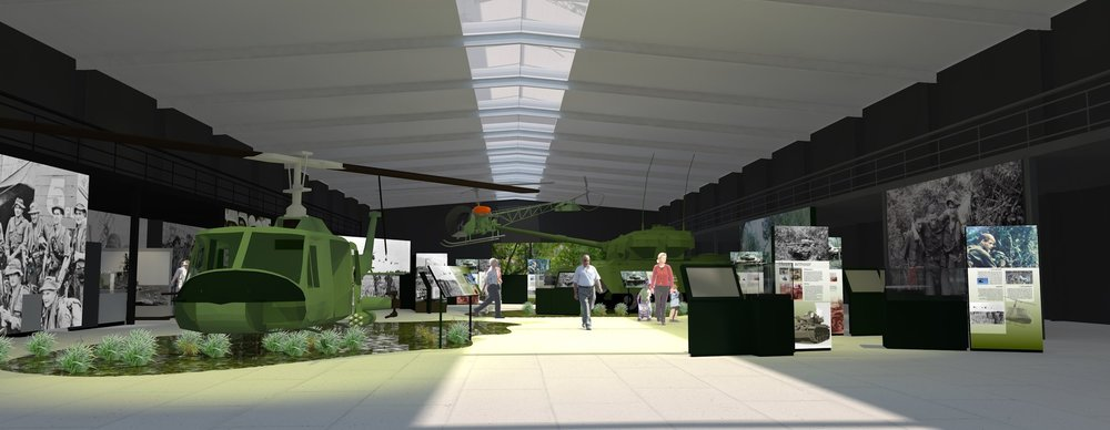 Master plan for the National Vietnam Veterans Museum