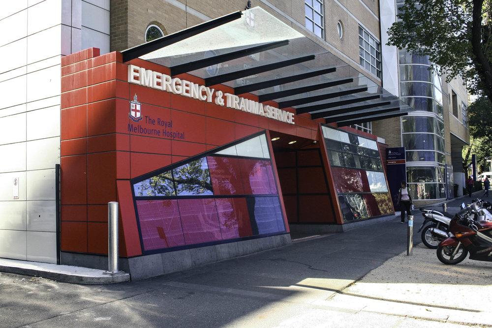 Emergency Entrance - Royal Melbourne Hospital
