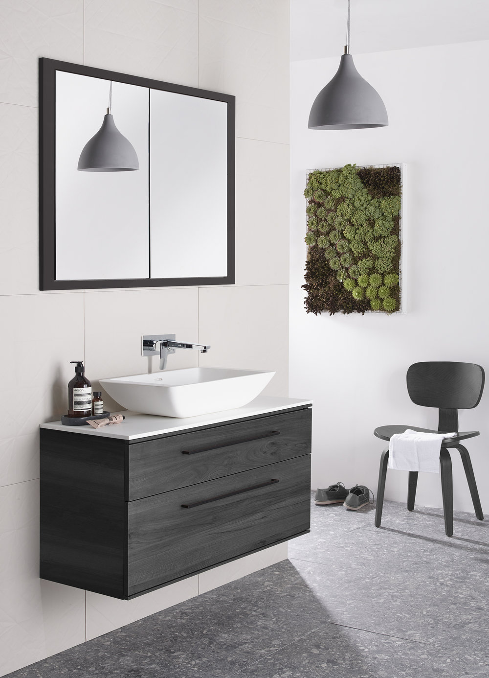 the Perks of Wallflowers - Create a vertical garden and transform bare bathroom walls with a lush tapestry of green.