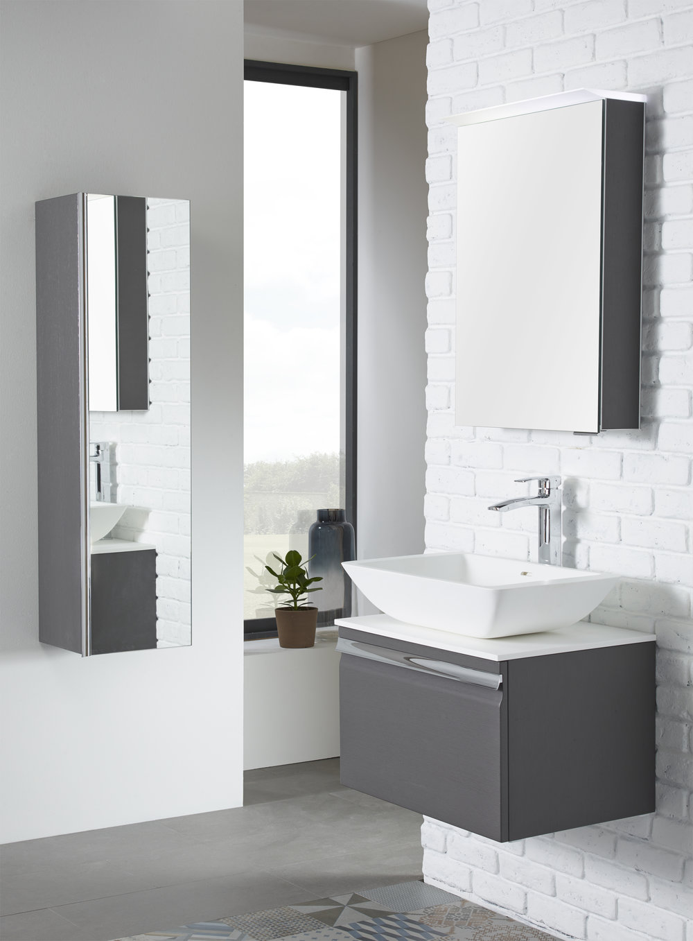 Mirror mirror - Mirrored surfaces are not only practical, but capture & project light into darker corners to open up your bathroom space.