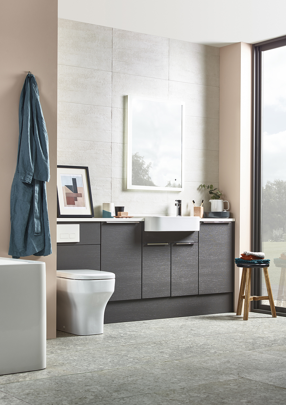 a fine art - The addition of a simple print can add character to your bathroom. Choose a design that suits your colour scheme and the overall style of your washroom.