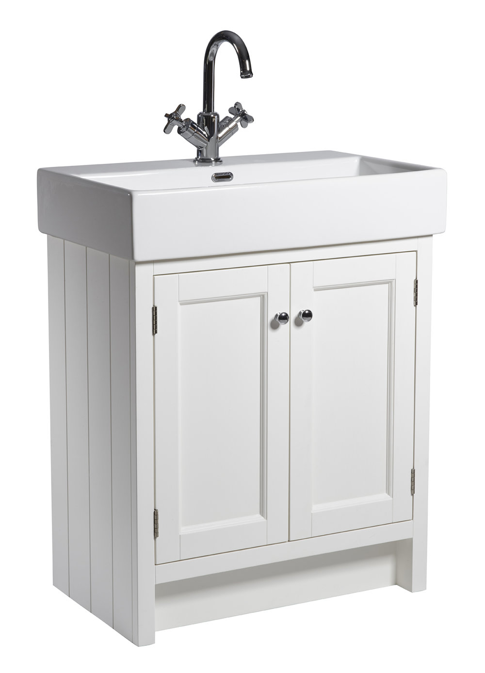 Hampton 700mm Basin Unit in Chalk White