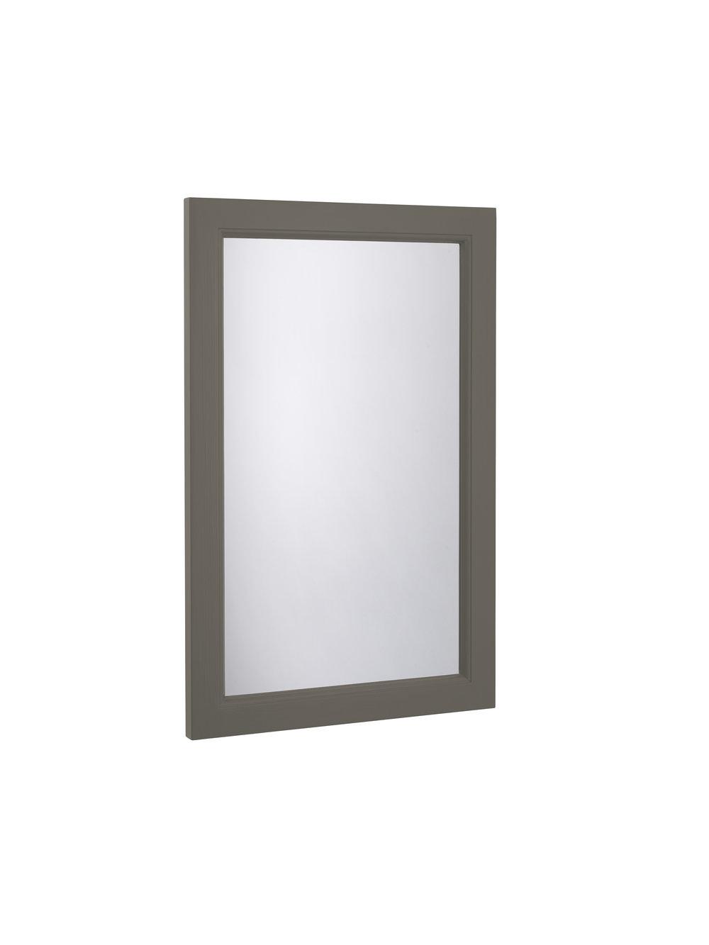 Hampton Cloakroom Mirror, Pewter
