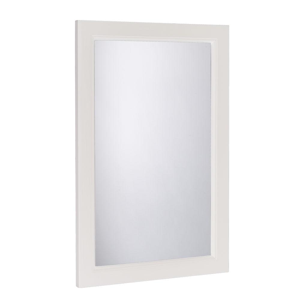 Hampton Cloakroom Mirror, Chalk White