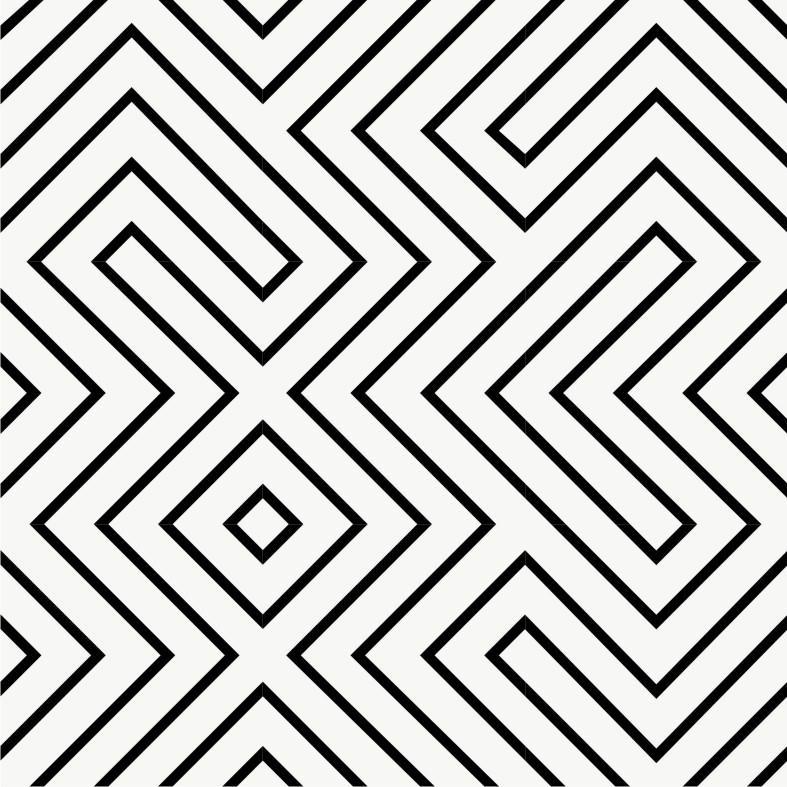 Vinyl Tile Stickers Pack in Black Maze
