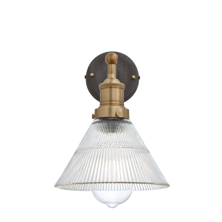 Brooklyn Glass Funnel Sconce Light, Industville
