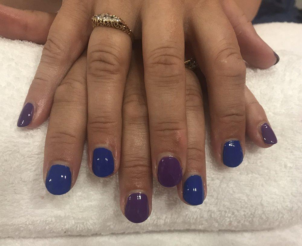 Two tone polish using Cobolt blue & Milano
