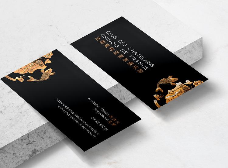 Club Des Chtelains Chinois De France Business Cards Solenne Yu