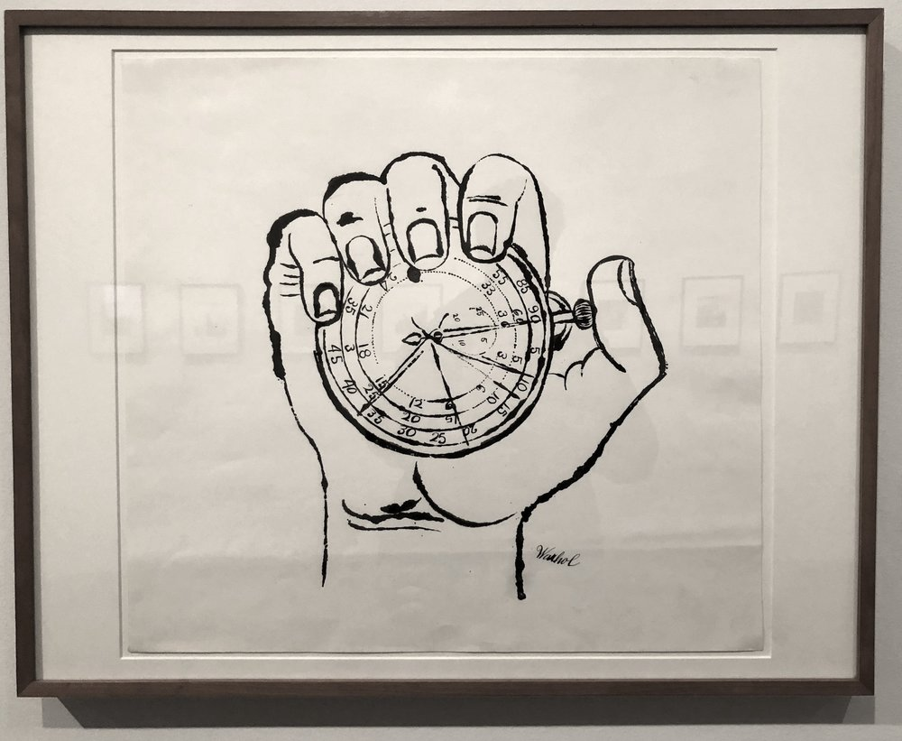 Andy Warhol's Hand Holding Stop Watch