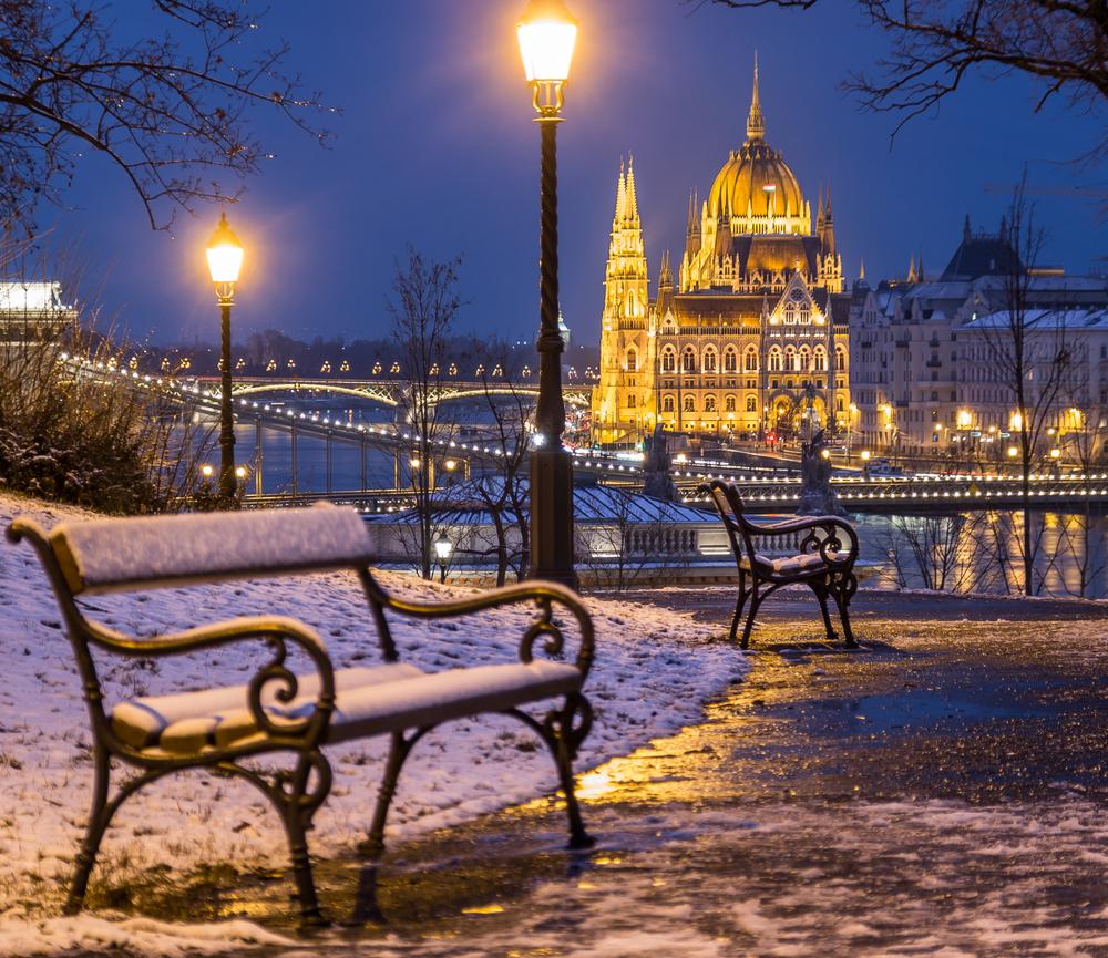 Nyt utsikten langs Donau