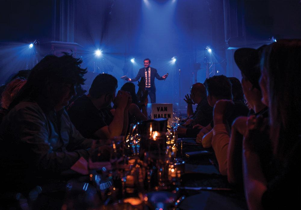 Entra Rocks - topp stemning under middagen med engasjerte ansatte hos Entra.