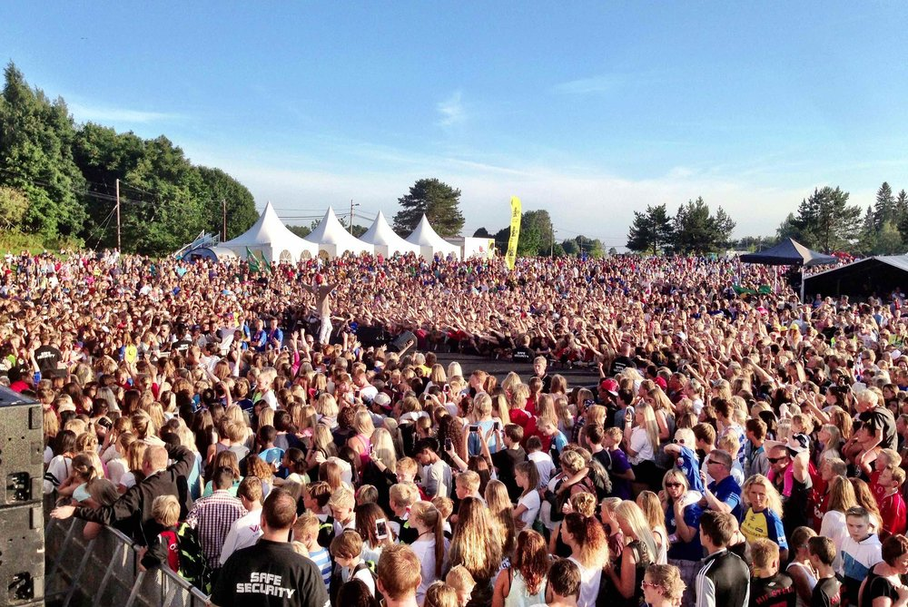Topp stemning når 6.Sans arrangerte konsert på Norway Cup