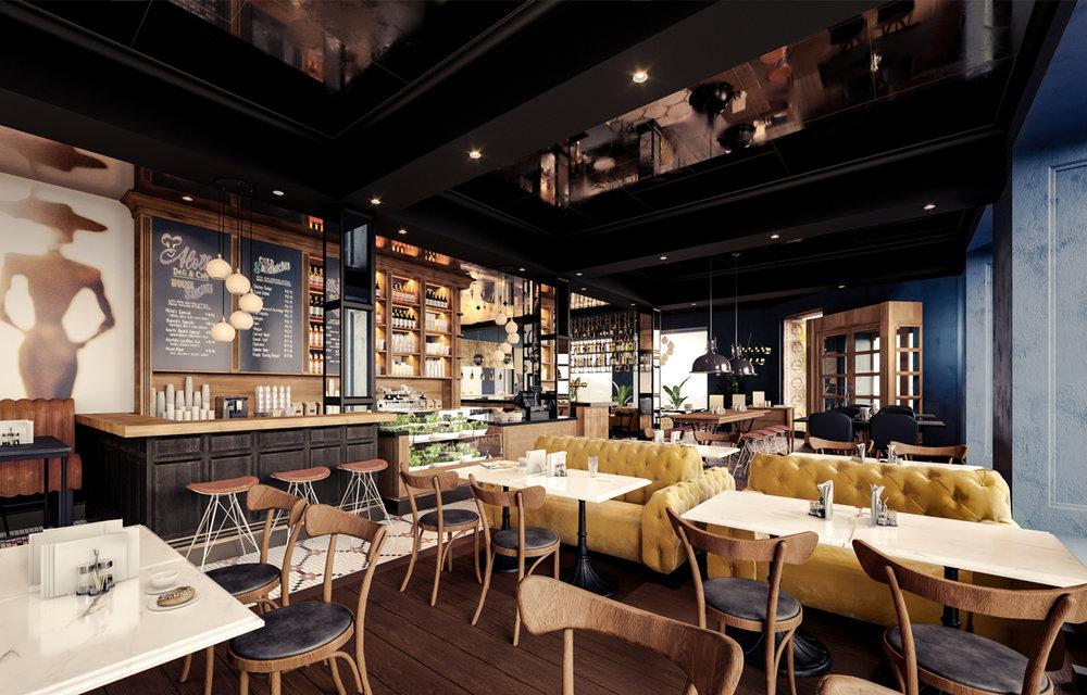Det nye brasseriet Atlas i lekkert design og det vil også få en spennende meny. Her kan både lokale og hotellets gjester nye både frokost, lunch, brunch og middag!