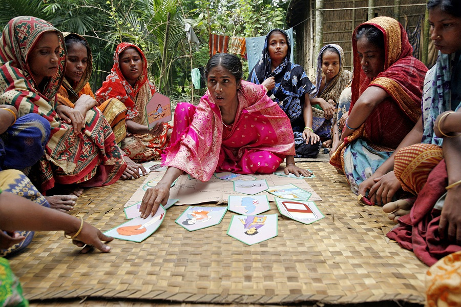 A woman's group meets in Bangladesh