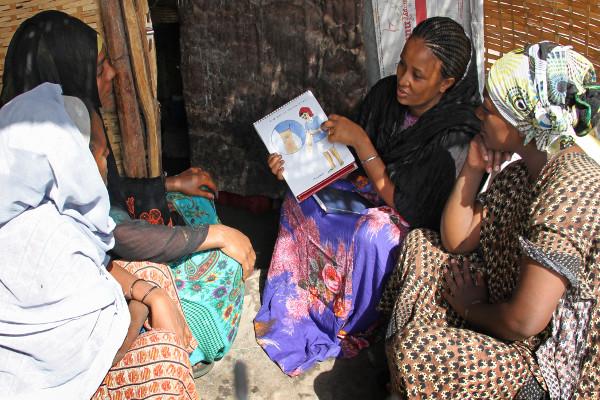 Women discuss their health concerns in Ethiopia