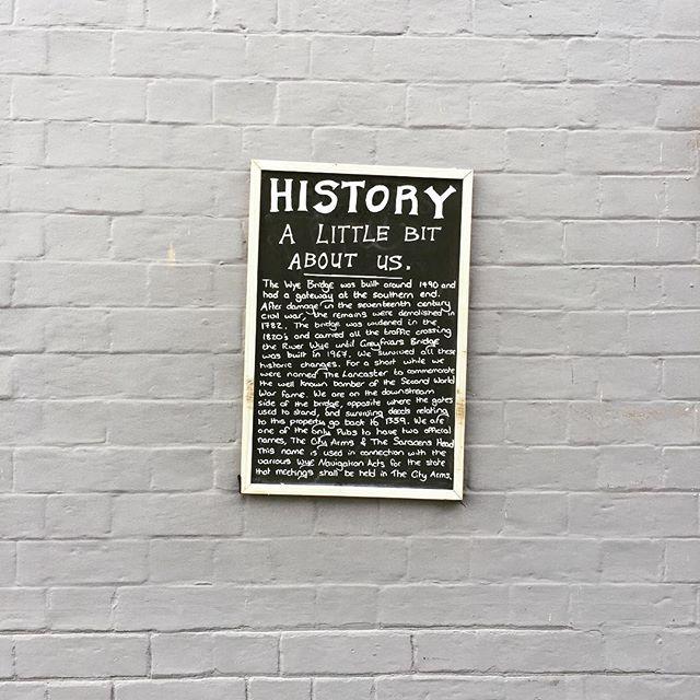 History written on the wall @ Wye Bridge pub in Hereford #hfdsculture