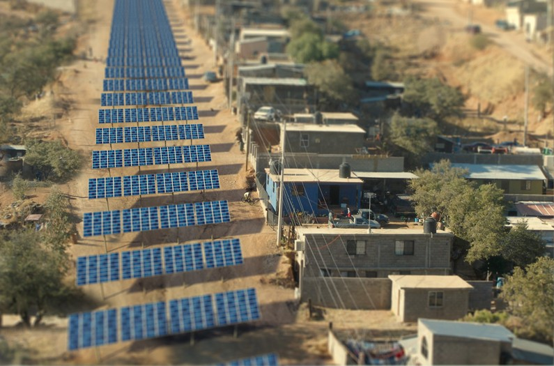 Image from Anthropocene's article  'Instead of Trump's Wall, Let's Build a Border of Solar Panels '