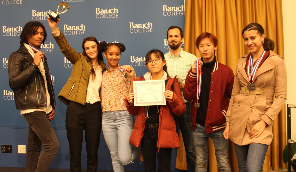 The Argus staff accepts their awards at Baruch College.   Photo Credit: Catherine Kaczmarek