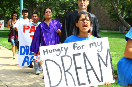 Plyler v. Doe  (1982) gave undocumented students the right to attend public school.