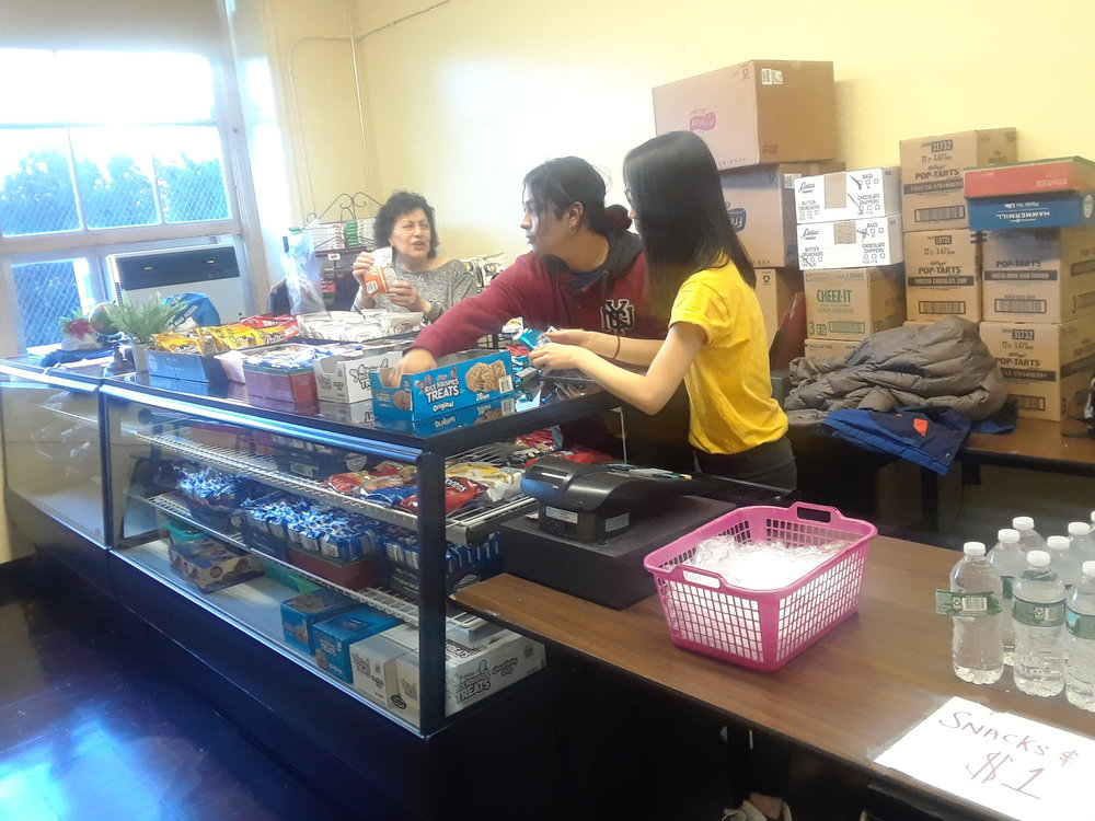 The new school store will be equipped with a new materials, snacks, plastic bags, and school apparel.  Photo Credit: Nahomie Theoli