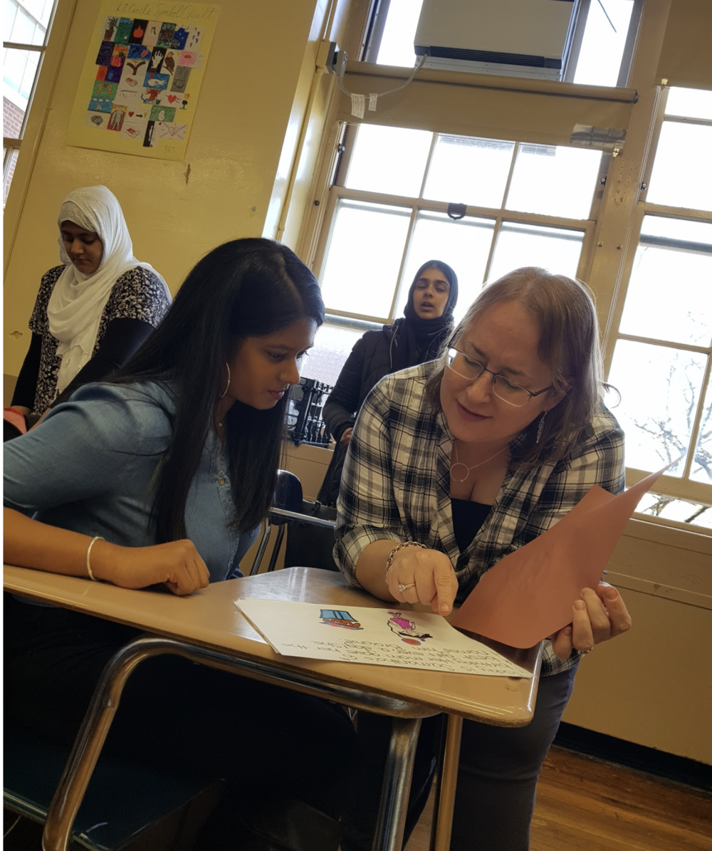 Before she was a teacher, Ms. Guida was a Midwood student.  Photo Credit: Wan Hua Rong
