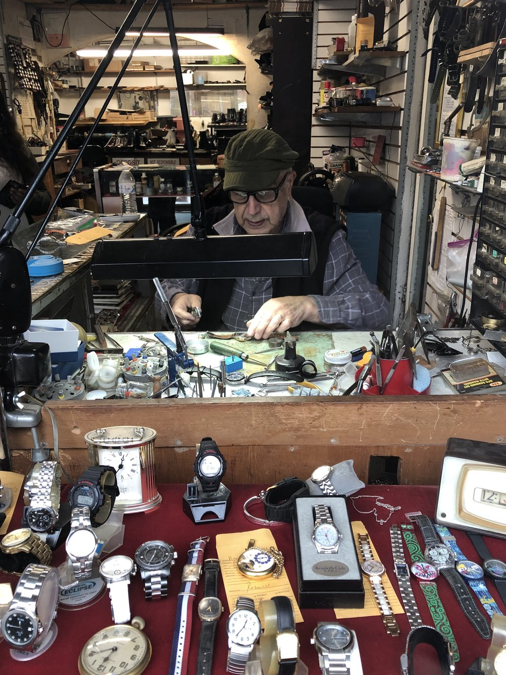 David's Shoe and Watch Repair is a memento of the West Village of the past.  Photo Credit: Auritri Hossain