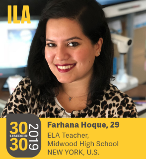 Ms. Hoque made the cover of the ILA's magazine.  Photo Credit: ILA