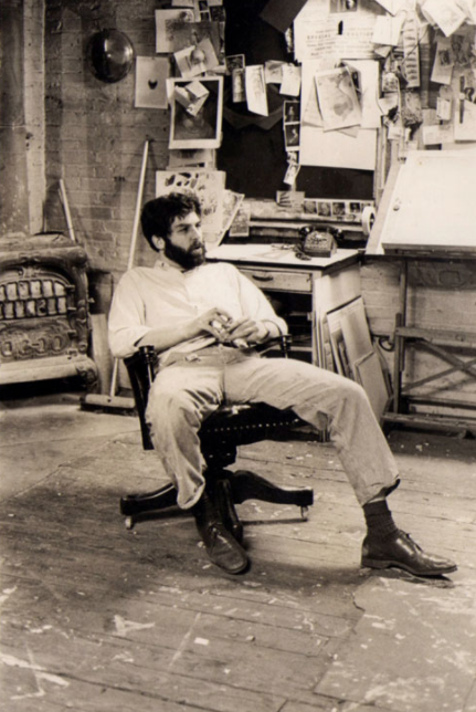 Robert Grossman in his studio in 1968.   Photo Credit: Jan Welt via Midwood Alumni Association
