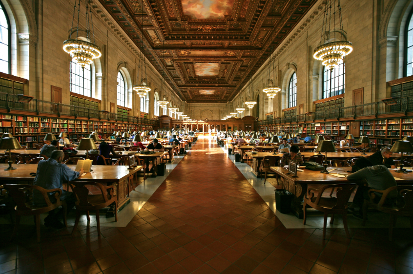 Stephen A. Schwarzman is the largest library in NYC.  Photo credit: Wikimedia Commons