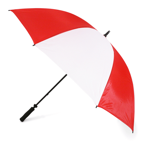 Red and white umbrella