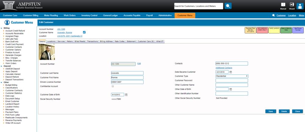 Demo Screen Shot - Customer Menu.PNG