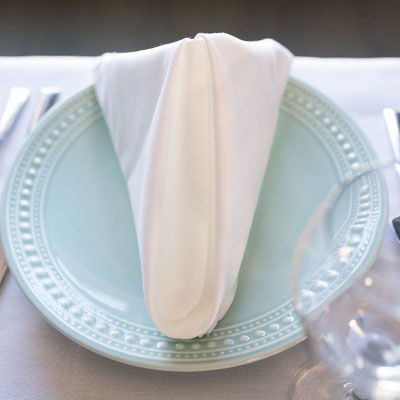 Blended Satin Band Napkin - 22 X 22 FS