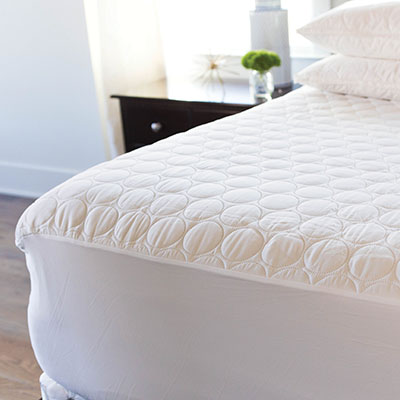 Water Proof/Allergy Shield Quilted Fitted Mattress Protector Pad - 100% COTTON QUILTED WITH 100% POLY FILLING