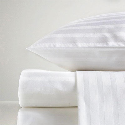 T-250 Satin Sheets - 55/45 COTTON POLYESTERHEM: Twin Black, Full White, Queen Gold, King Purple