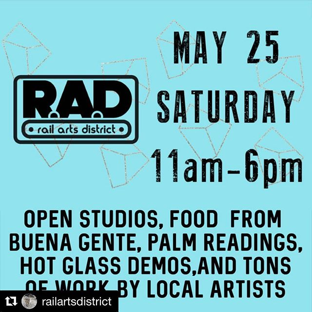#Repost @railartsdistrict with @get_repost ・・・ Join us for our RAD block party on Saturday May 25 from 11am-6pm. Art, food by @buenagenteatl, palm readings by @handfulofstars_readings, hot glass art and demos by @atlantahotglass, pottery and demonstrations by @mudfire and wellness by @seedtostarcollective. #radblockparty #artparty #madeatmudfire #shoplocal #shopsmall #palmreading #thingstodoinatlanta #decaturart #exploreavondale #buenagenteatl #hotglass #exploregeorgia #atlantaartist #weloveatl #atlantaart