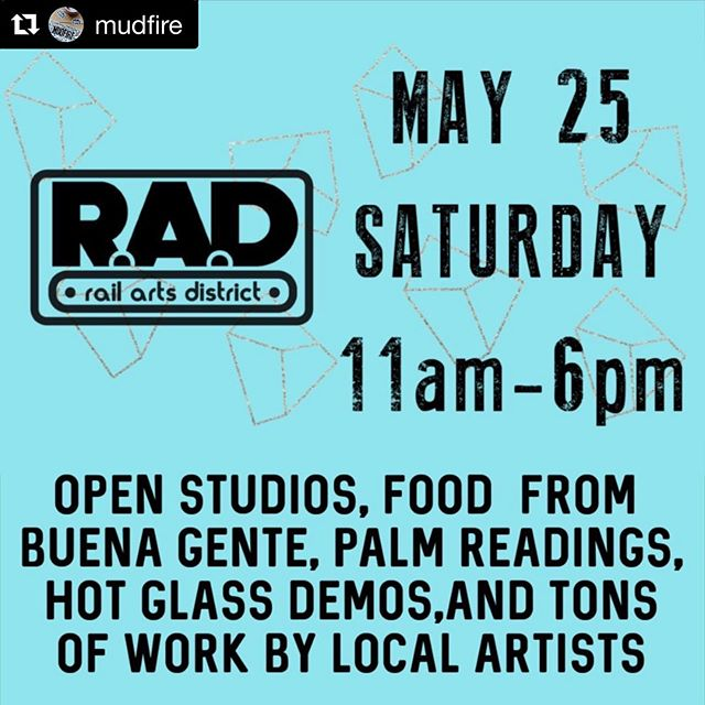 #Repost @mudfire with @get_repost ・・・ We're TEN days out from our 🔆 RAD BLOCK PARTY 🔆 Be here, or be like, super sad you missed it y'all!!! Food, drinks, studio tours, local craft, palm readings, Cuban food, LOCAL ARTISTS..... what else could you even need? You can bounce back and forth between us and @seedtostarcollective and @atlantahotglass across the street, then grab a colada from @buenagenteatl and then do it all over again!!! ⠀ *⠀ *⠀ *⠀ #shoplocal #thingstodoinatlanta #memorialdayweekend #craft #art #atlanta #ceramics #glass #atlantaart #weloveatl #exploregeorgia #cbs46 #summer