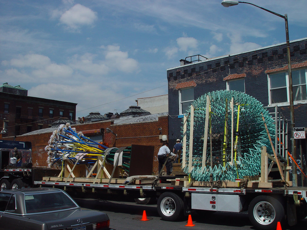 Sculpture transportation after fabrication