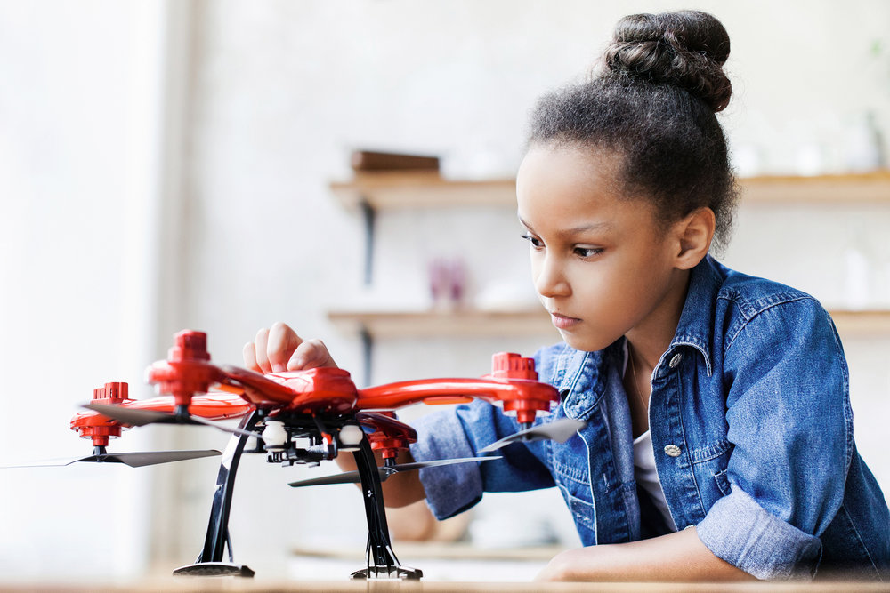 INDIVIDUAL DRONE LESSONS - Students who take individual lessons get to customize their learning path. Depending on what the child is most interested in, we will follow their passion and teach around it.Each student will learn FAA rules and regulations..