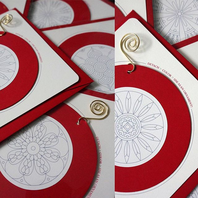 Get your 6pk of #holidaycards today! Featuring 6 unique patterns ready to color! Spread the #lovejoycolor this holiday season! ❤️🤗🖍 { www.etsy.com/shop/OKSHEILA } #oksheila #adultcoloring #coloringcards #stationery #ornaments