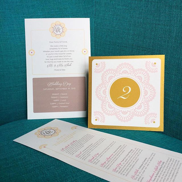 Modern ornate #weddingstationery set. It's all in the #details ! ✔️ #oksheila