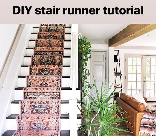 Diy Stair Runner Tutorial House On A Sugar Hill