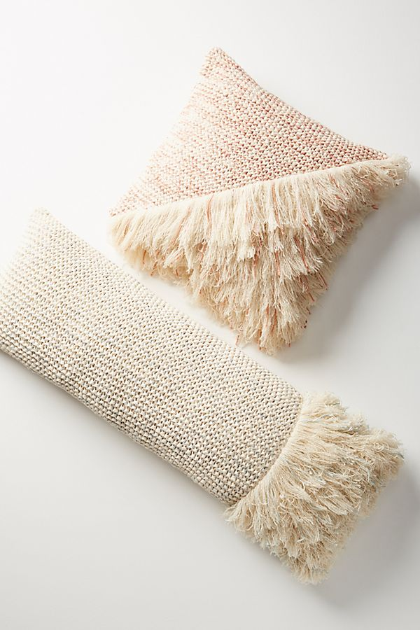 Anthro Fringed Pillow