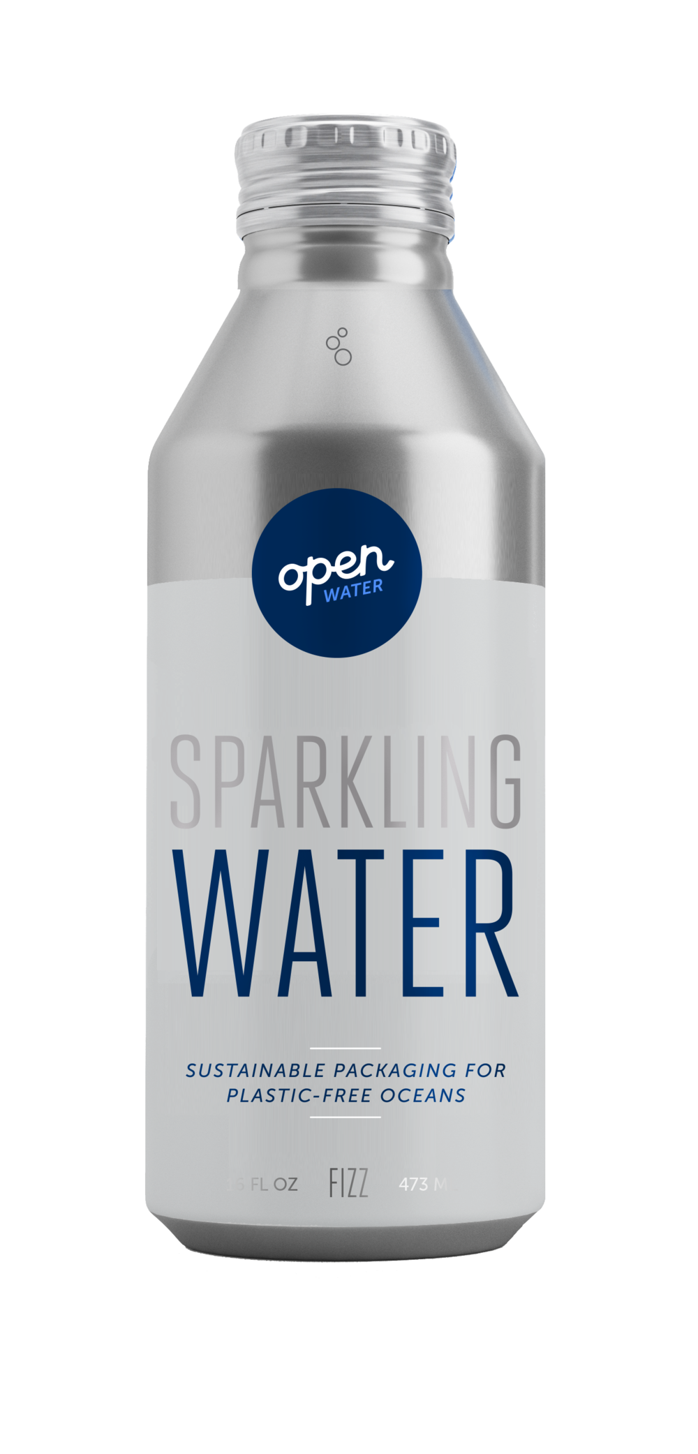 Open Water Sparkling Water in aluminum bottle