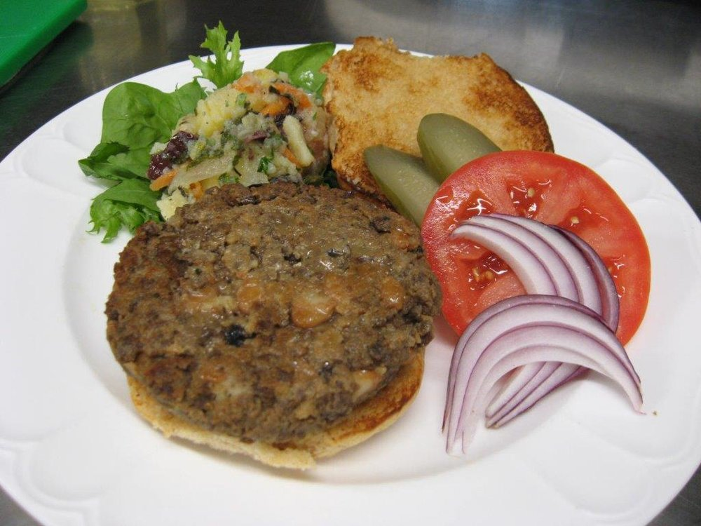 Salisbury Pinto Bean Burger -