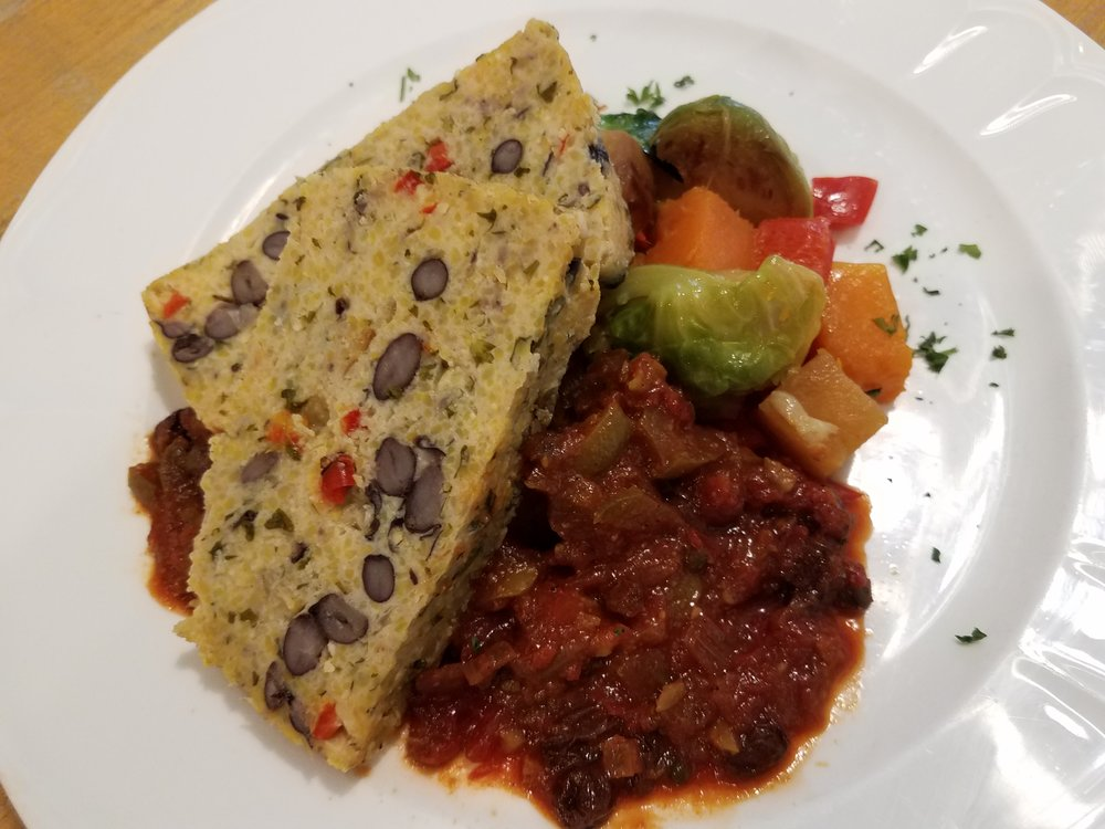 Black Bean Polenta Loaf