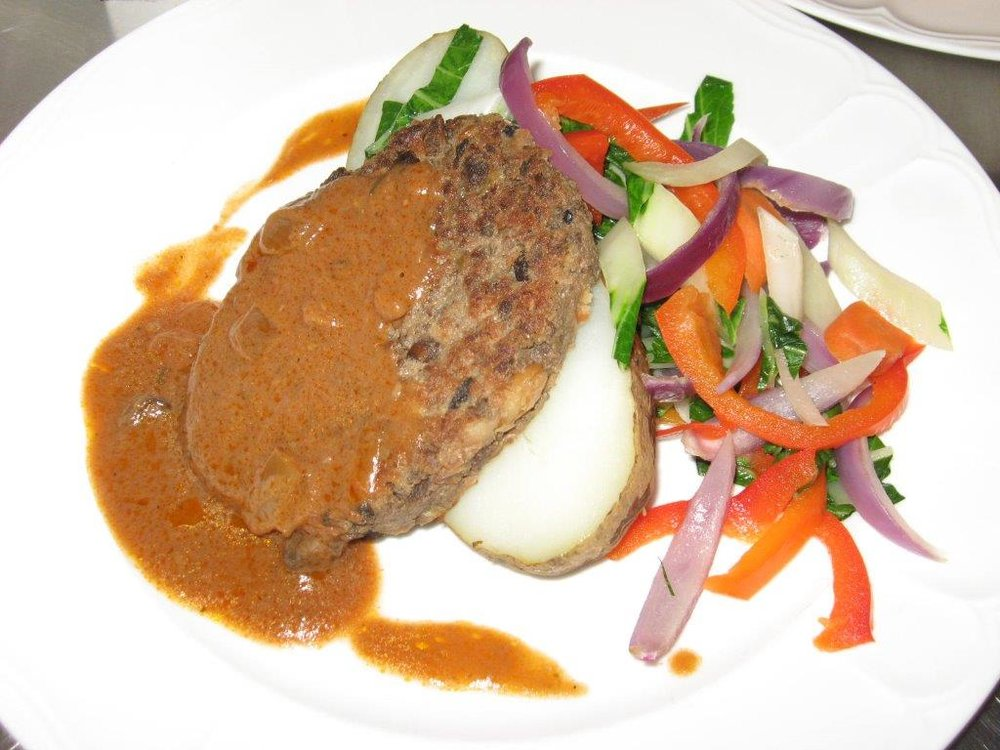 Pinto Bean Salisbury Steak