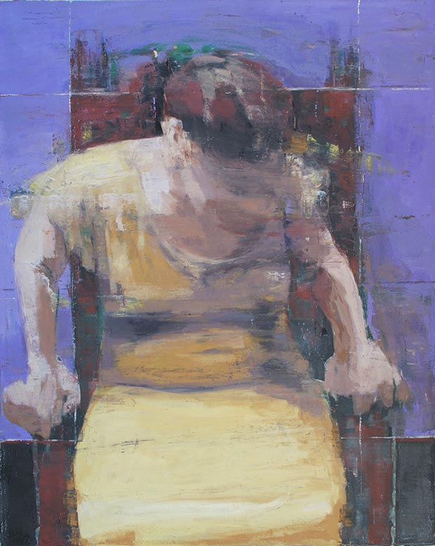 Samir Fouad, Untitled, oil on canvas, 100x80 cm, 2014 / Courtesy of Made In..Gallery