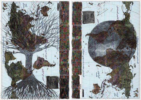 GDyslexia-2-Acrylic-and-ballpoint-pen-on-Iranian-world-map-Diptych-100-x-70-cm-each-2015.jpg