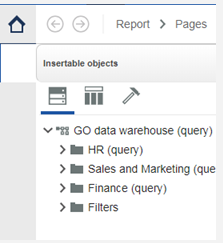 Cognos 11.1 Bugs - Vanishing button