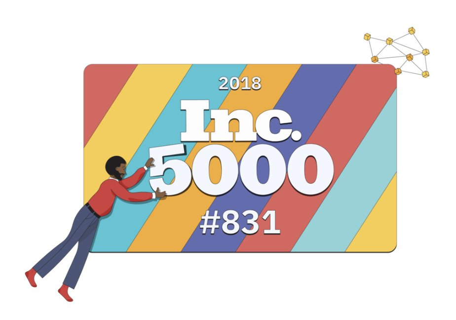 """Awards received for our data analytics consulting services include 2018 Inc. 5000"""